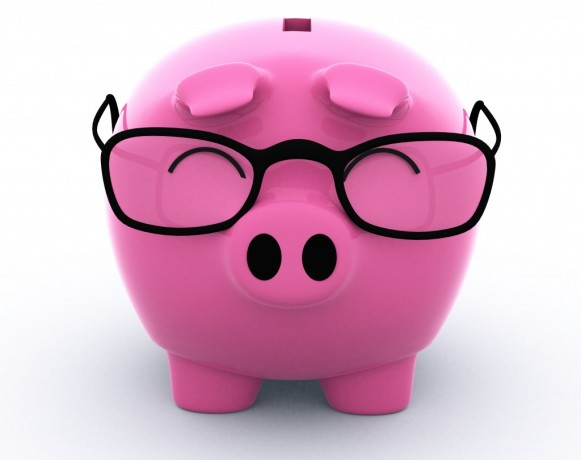 piggy bank glasses