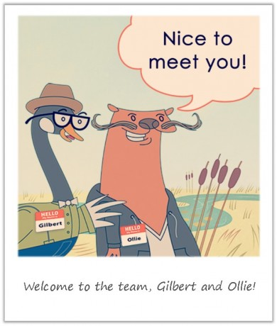welcome gilbert and ollie