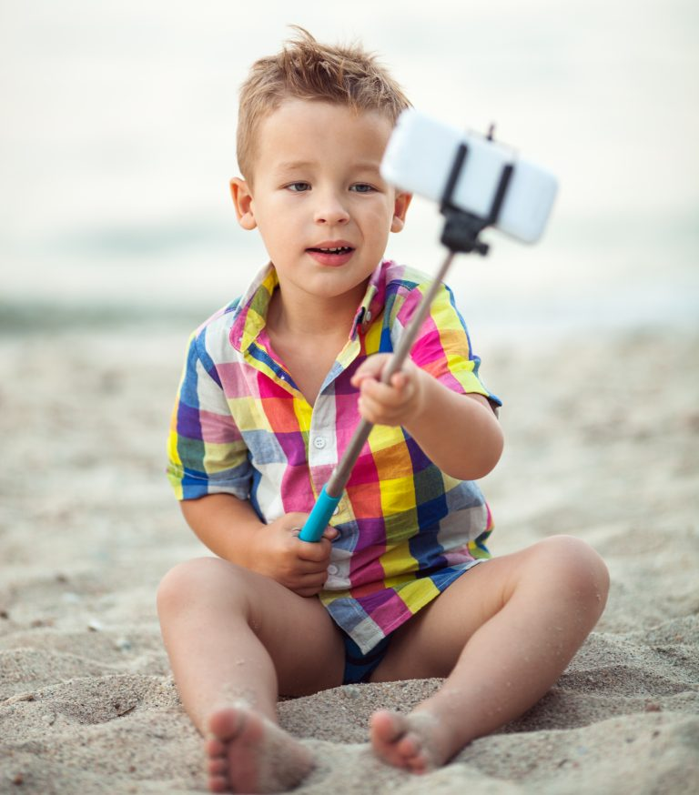 Child taking a selfie
