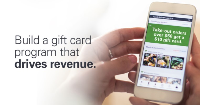 gift card program displayed on cell phone