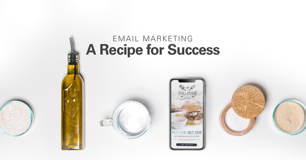 recipe for success olive oil bottle and smart phone