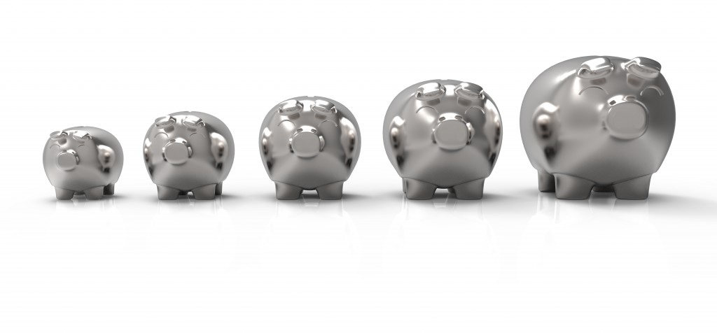 Silver Piggy Banks