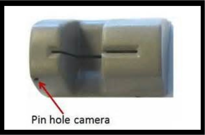 Pin hole camera on ATM